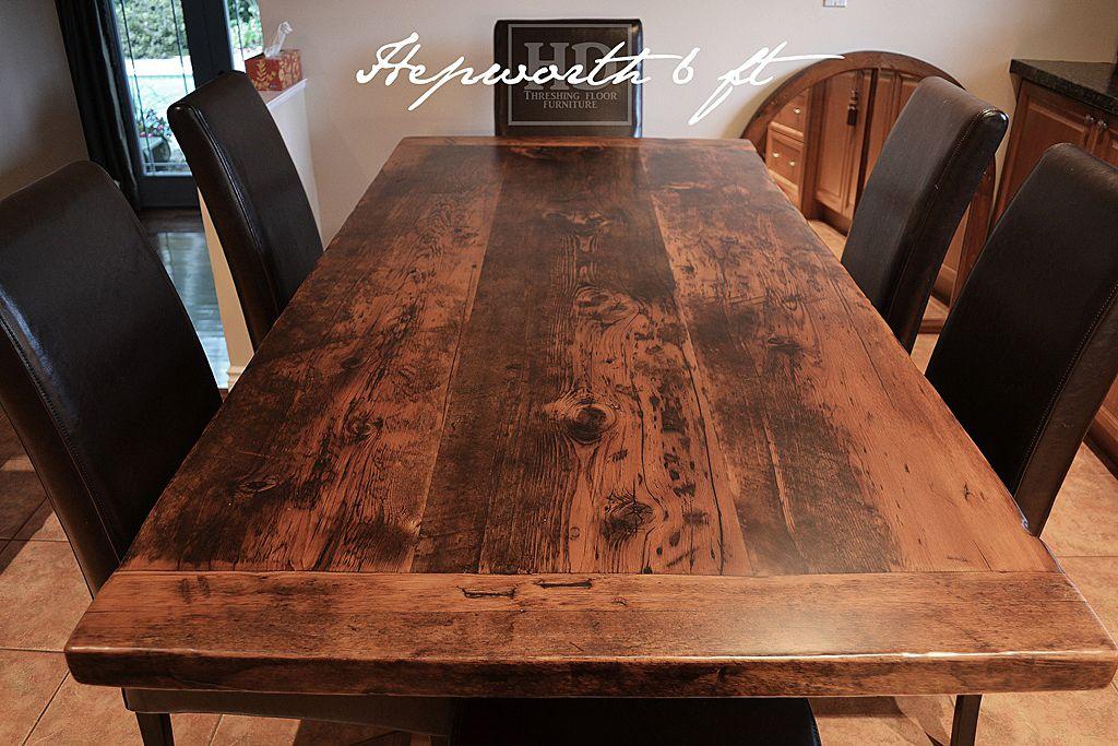 Hepworth 6 ft Reclaimed Wood Trestle Table Ontario Barn