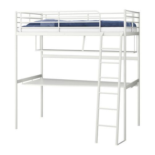 Full Size White Ikea Tromso Loft Bed W Shelf Desk In The Box