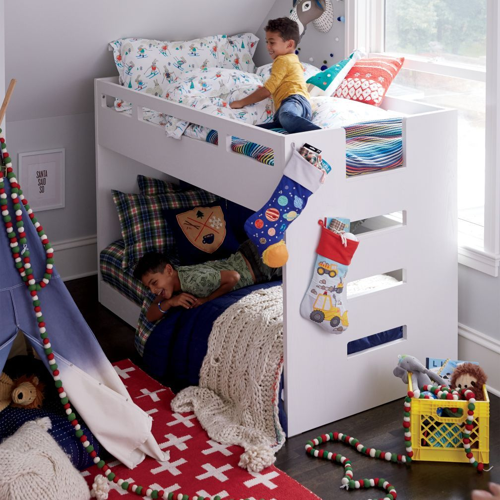 Abridged Bunk Bed The Land Of Nod Boys Bedroom Themes Space Saving Beds Kids Bedroom