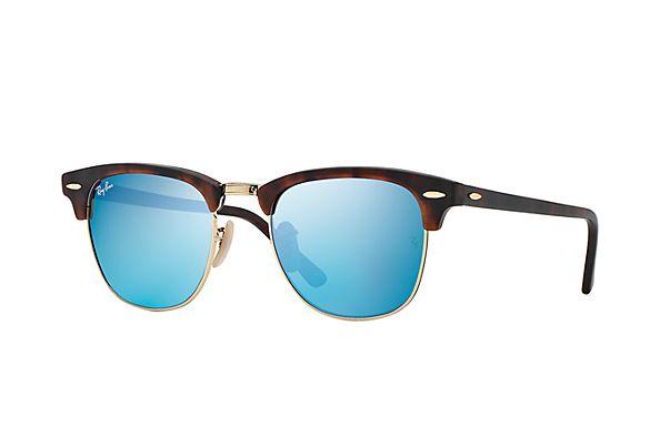 Ray-Ban RB3016 114517 49-21 Clubmaster Flash Lenses Sunglasses   Ray ... e0e4b914e60e
