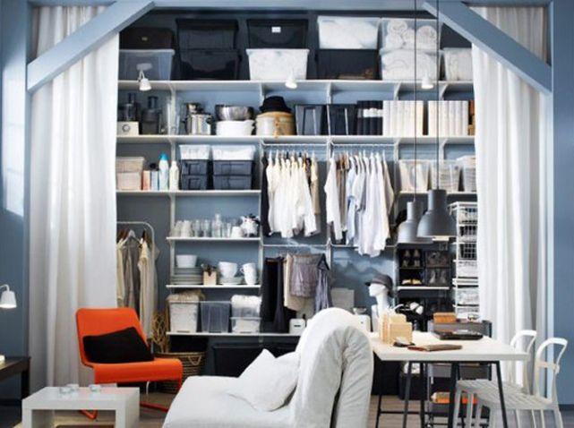 15 idées de dressings pour un petit appartement | Home | Pinterest ...
