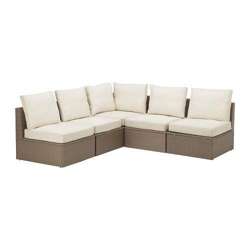 Garden Furniture Corner Sofa Ikea: (Outdoor) ARHOLMA-- Sofa Combination, Brown, Beige-- IKEA