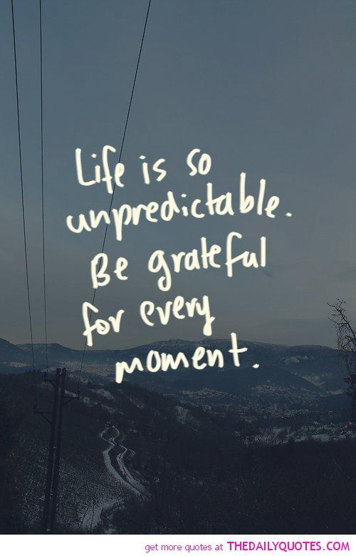 Life Is So Unpredictable The Daily Quotes Life is