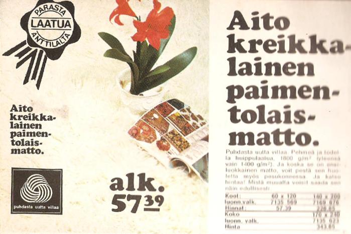 Taivastellen: Mainoksia 70-luvulta