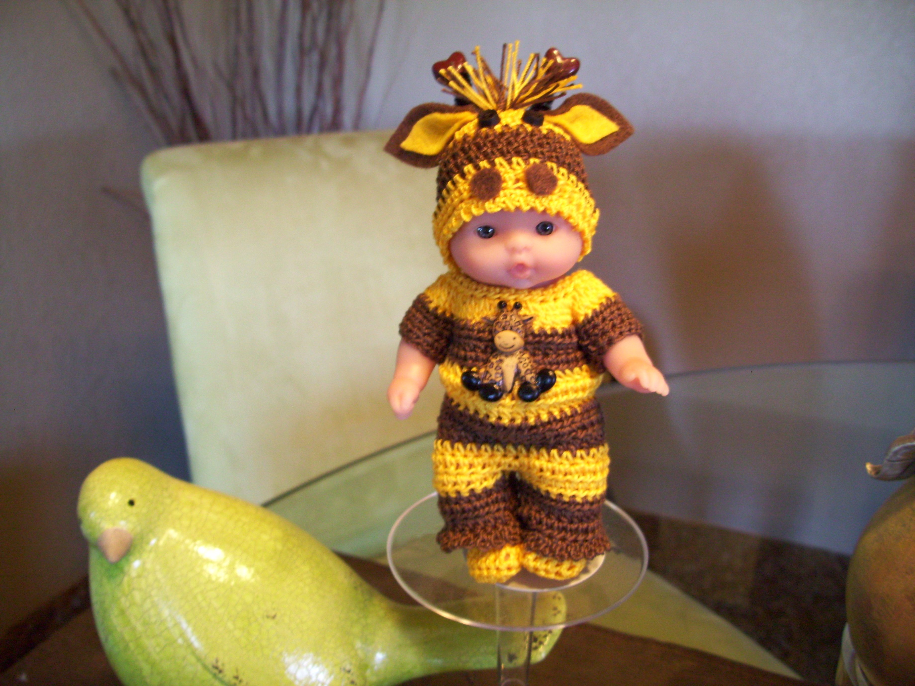 """Berenguer 5"""" Baby Dolls Giraffe outfit 135"""
