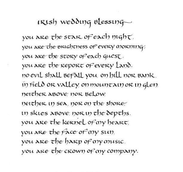Irish Wedding Blessing - original calligraphy art - 8x10 inches ...