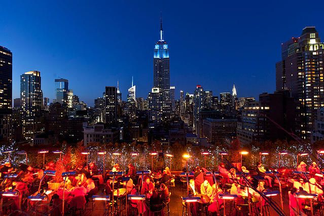 Outdoor Rooftop Bar Club Restaurant Nyc New York 230 Fifth