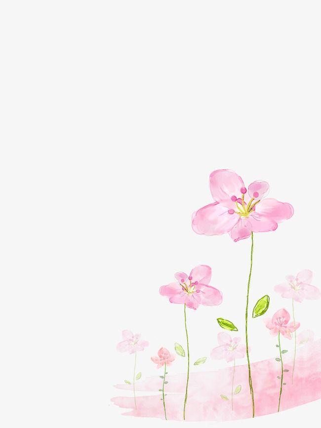 Fundo De Flores Cor  De  Rosa, Flores Cor De Rosa, Canto Decorativo, Pequeno Fresco Imagem PNG e PSD Para Download Gratuito