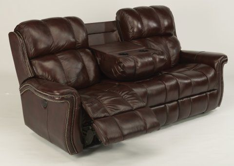 Challenger Leather Power Reclining Sofa By Flexsteel Via