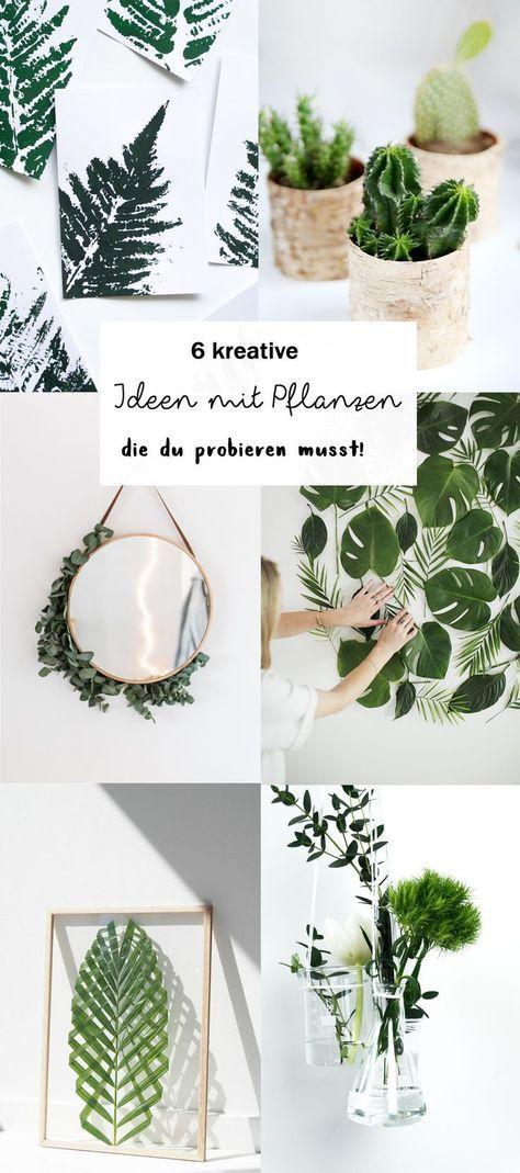 6 kreative Ideen für Pflanzen Deko DIY Pinterest Craft and