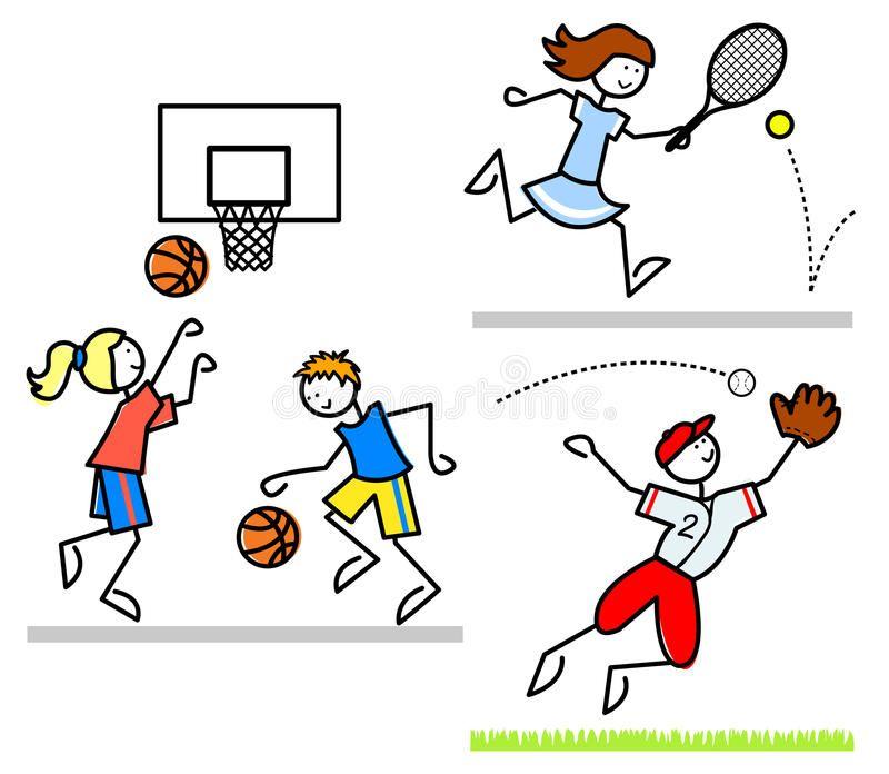 Sports Cartoon Kids Eps Cartoon Illustrations Of Active Children Playing Basket Sponsored Eps Illustrations Cartoon Kids Cartoon Illustration Cartoon