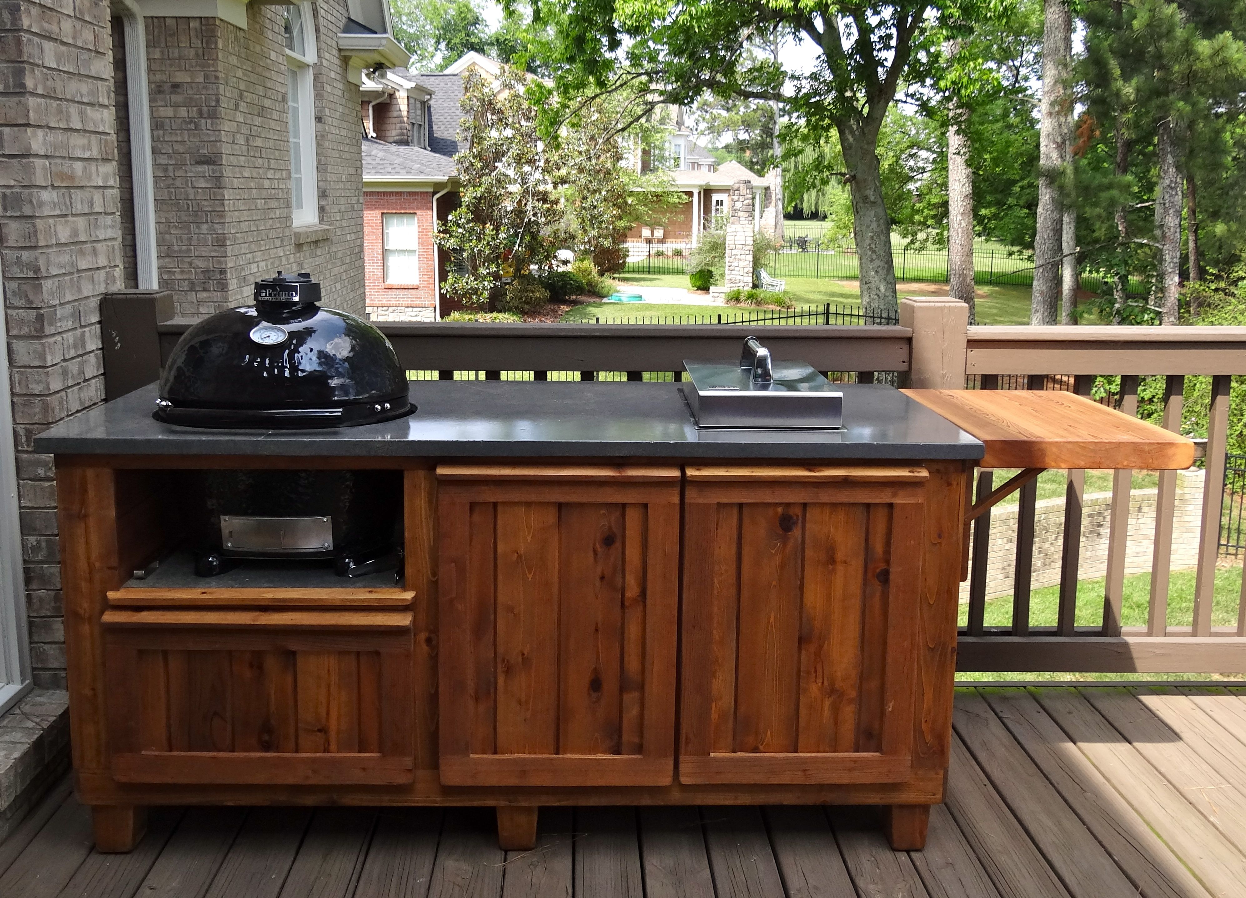 Outdoor Kitchen Cabinets Big Green Egg
