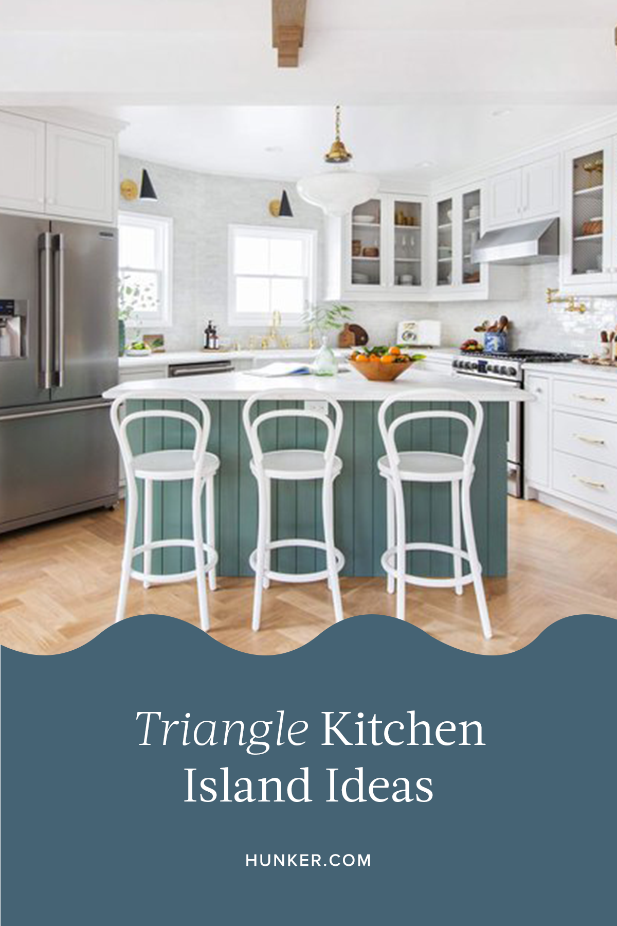A Triangle Kitchen Island Is The Key To Your Dream Cook Space Hunker In 2020 Updated Kitchen Gorgeous Kitchens White Cabinetry