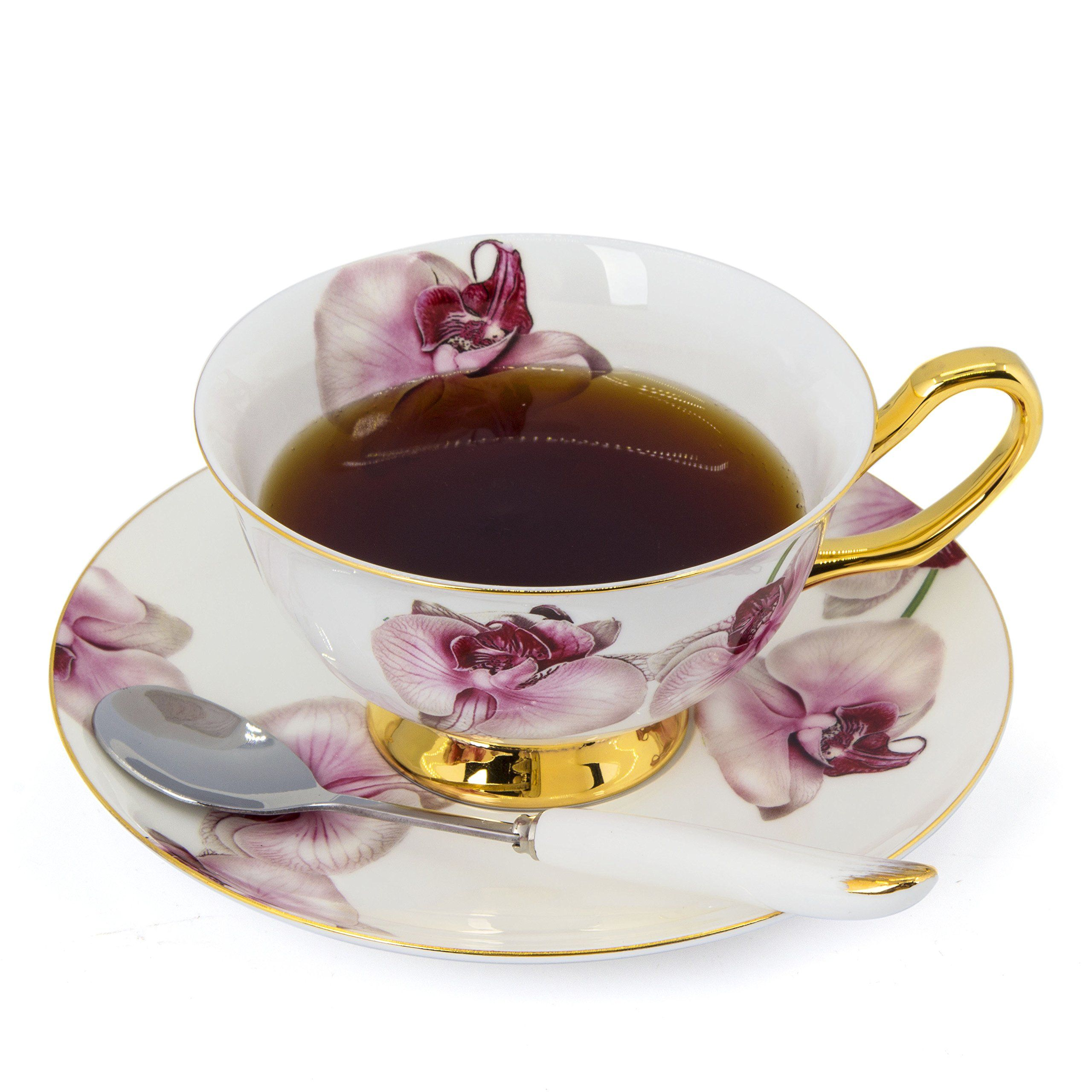 Porcelain Tea Cup and Saucer Coffee Cup Set