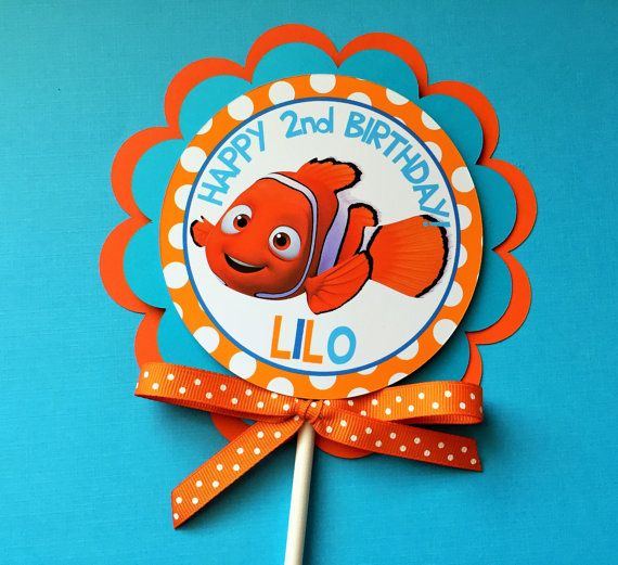 Finding Nemo Birthday Party Smash Cake Topper – Finding Nemo Birthday Cards