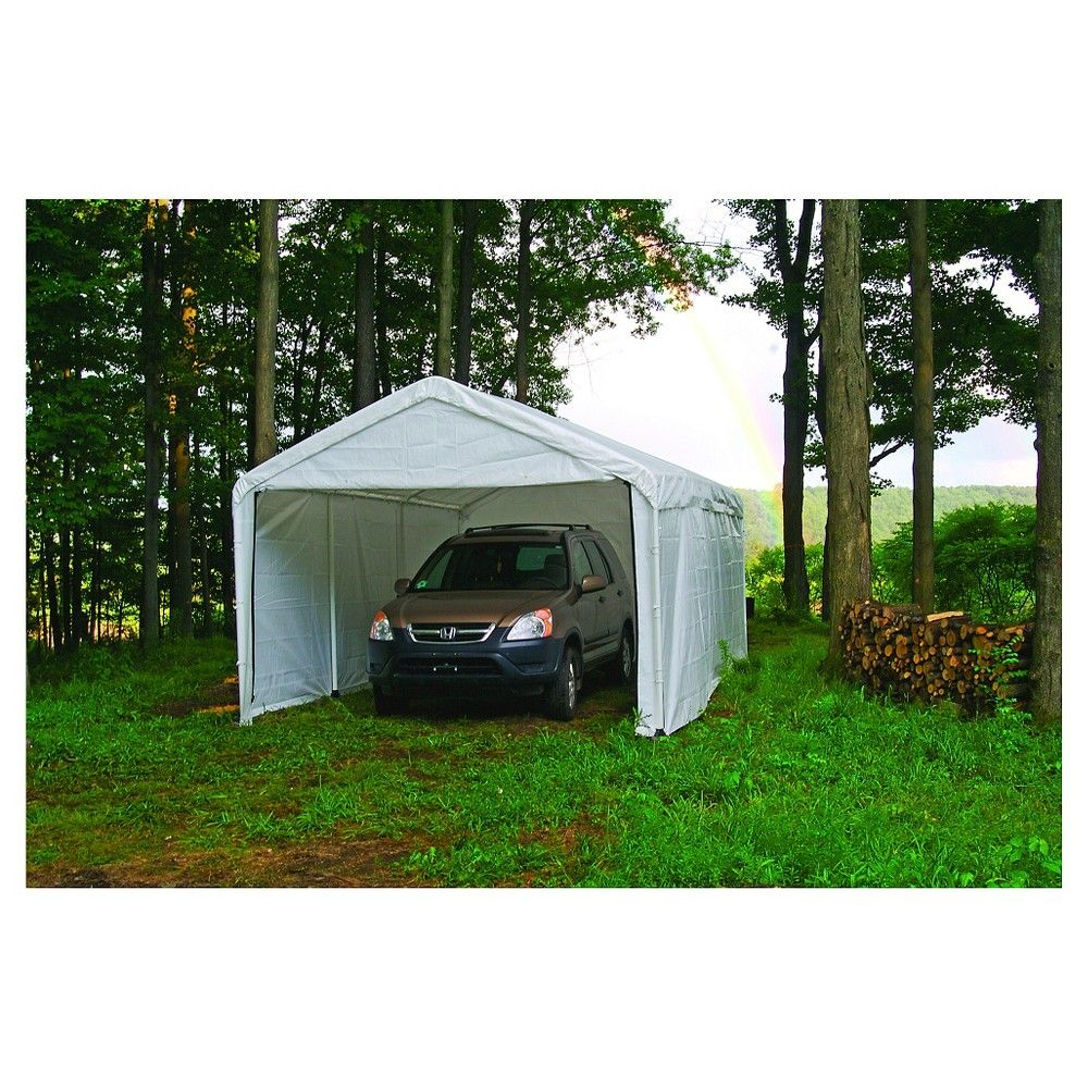 Shelter Logic 10x20 Canopy Enclosure Kit, White Canopy