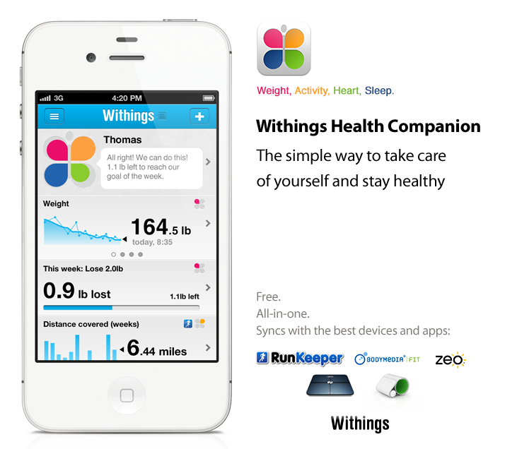 Looking for a multiple health tracking app? Withings