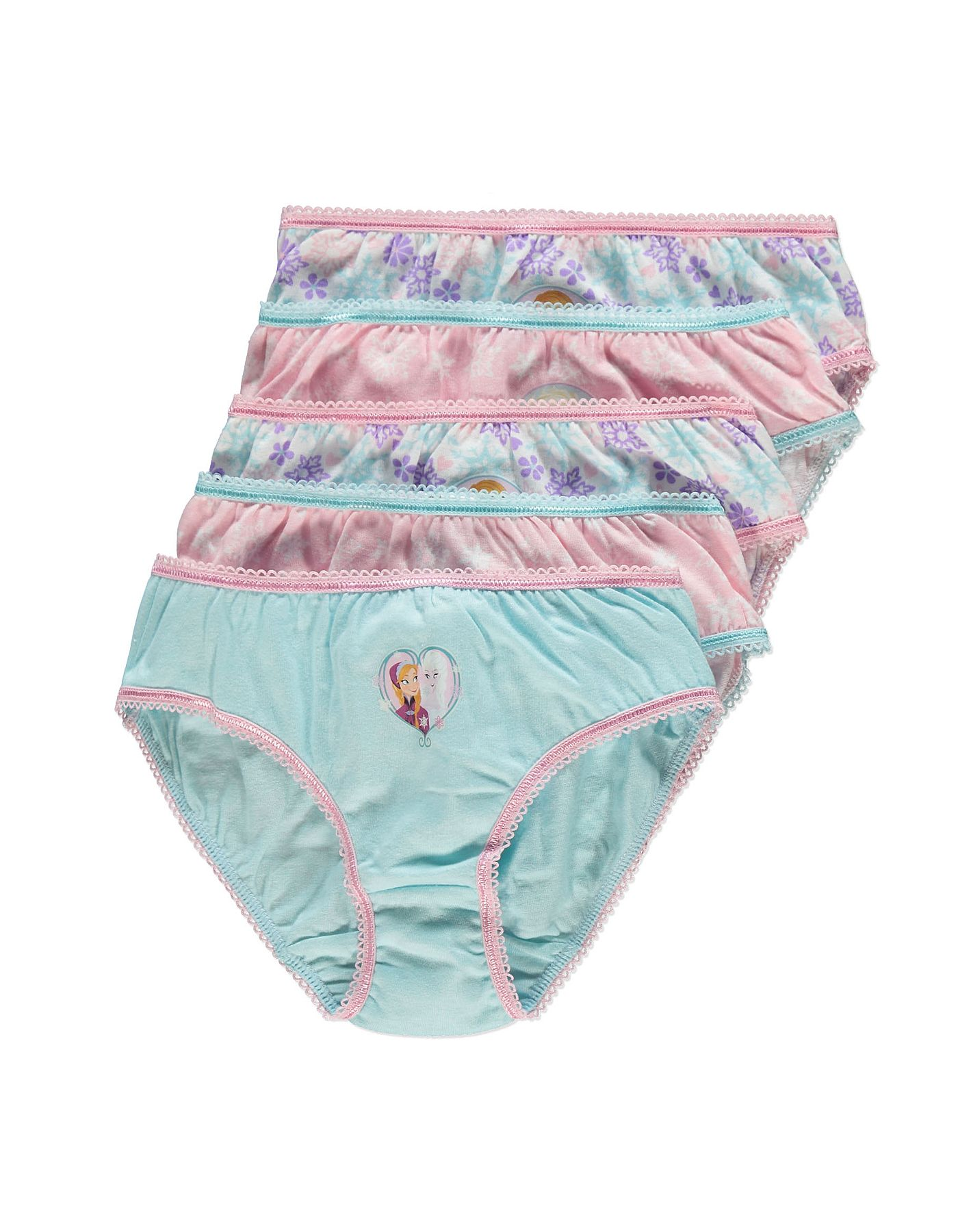 596c35282c38 Disney Frozen 5 Pack Briefs | Girls | George at ASDA | Girls ...