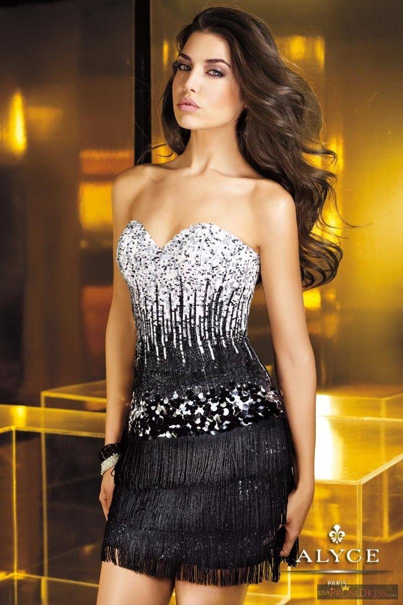Alyce paris homecoming dress fully beaded black sequin dress