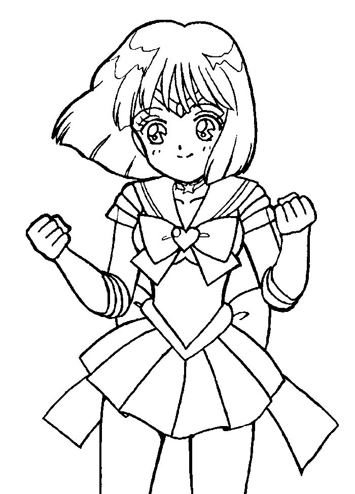 Sailor Mercury Happy Sailor Moon Coloring Pages Pinterest