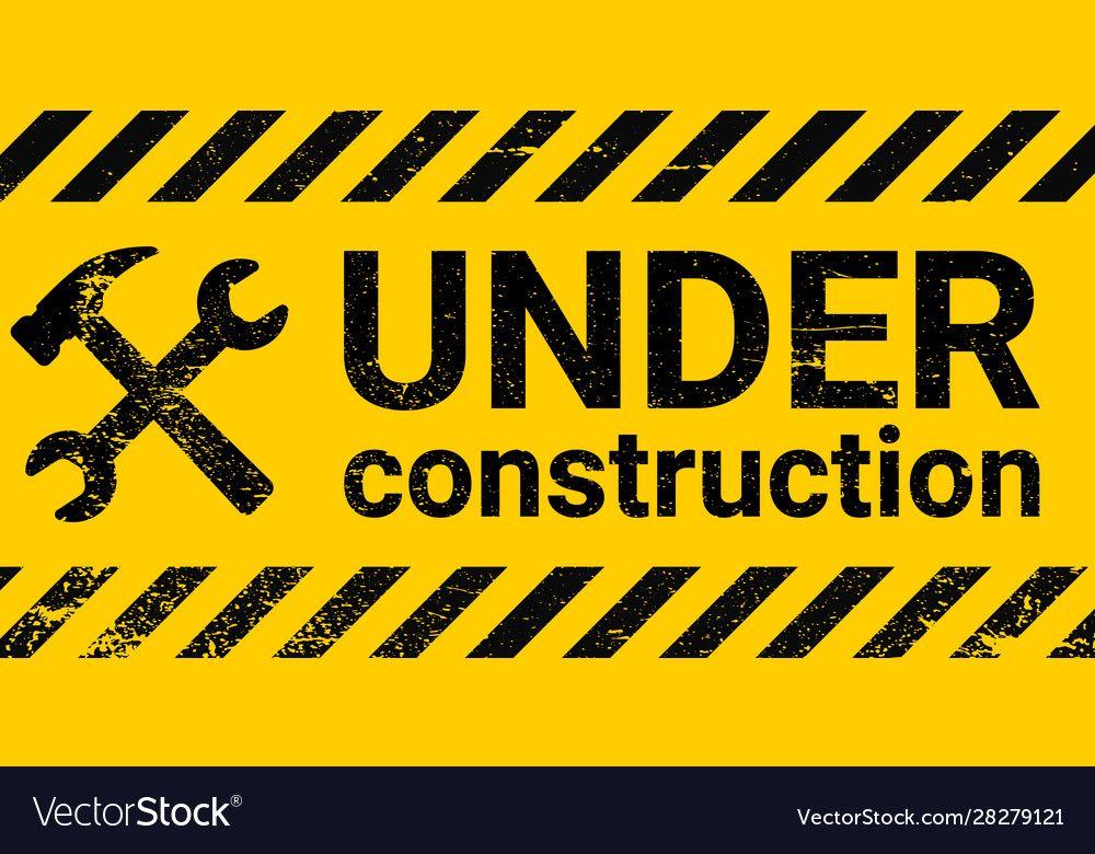 Under Construction Sign Banner Construction Signs Banner Sticker Sign