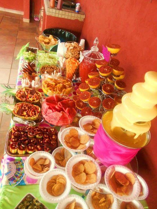0ae0e3749 Mesa de bocadillos salados | Tips e ideas para fiestas in 2019 ...
