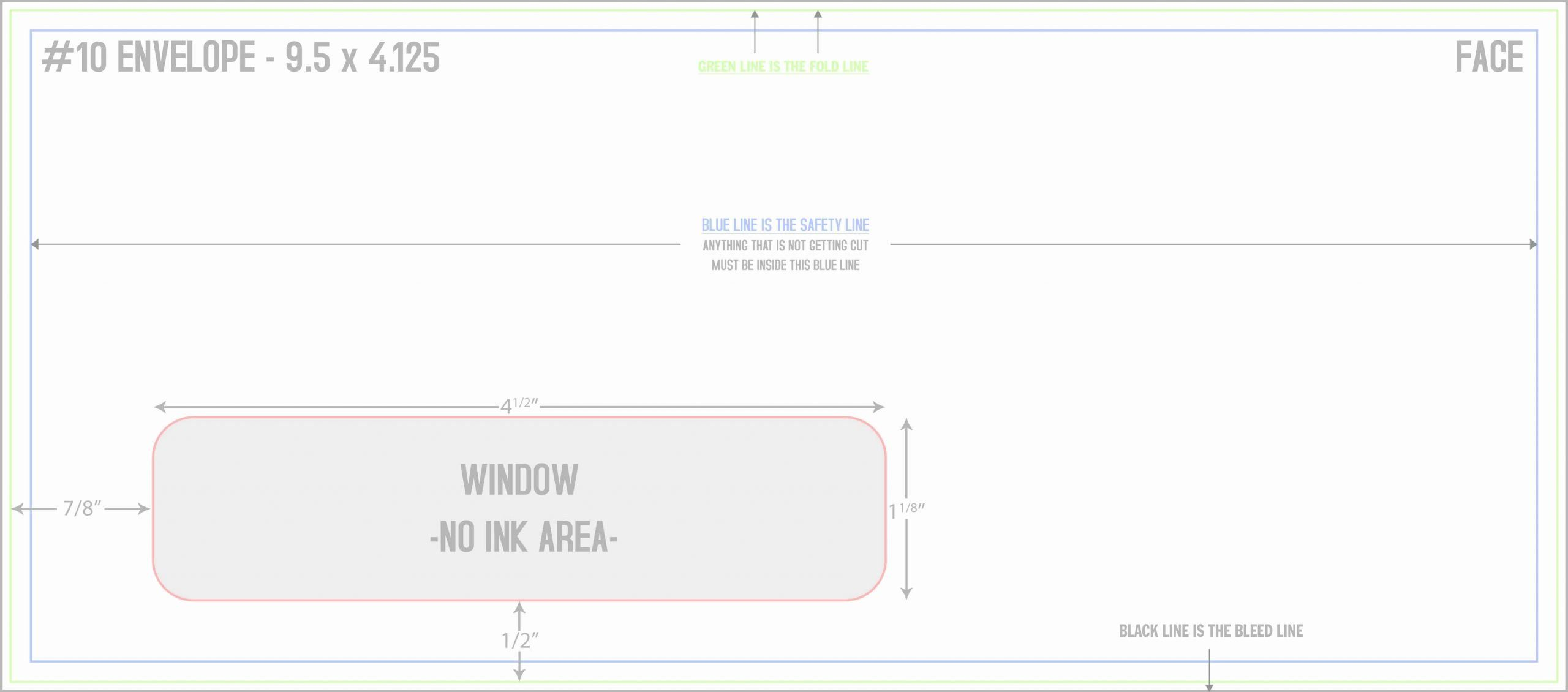 Number 10 Window Envelope Template from i.pinimg.com