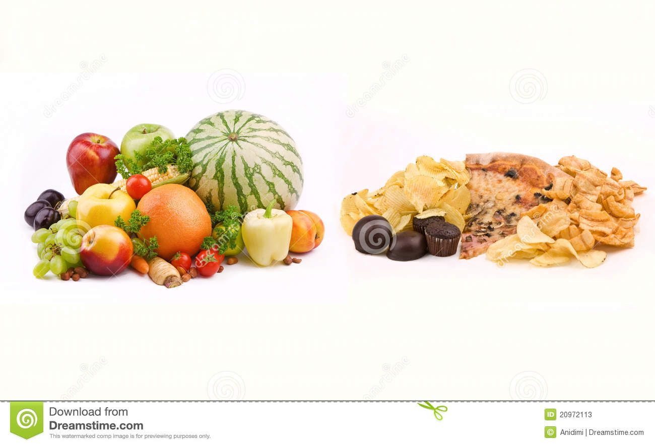 Healthy Food vs Junk-Food How To Make Vitamins Work ...