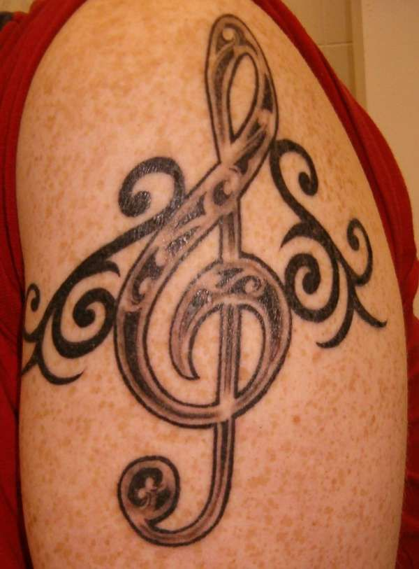 Celtic Treble Clef Tribal Tattoo Treble Clef Symbol Tattoos