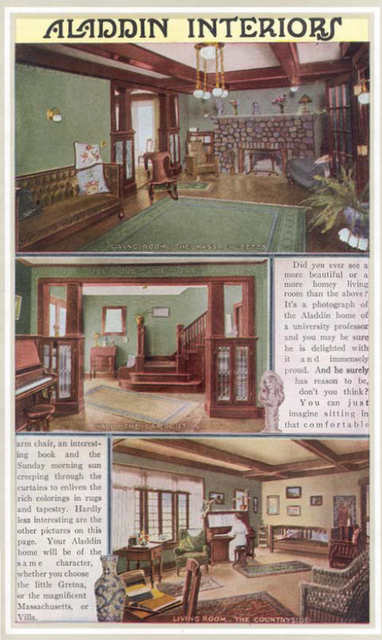 interiors from aladdin homes catalog from 1916 | house interiors
