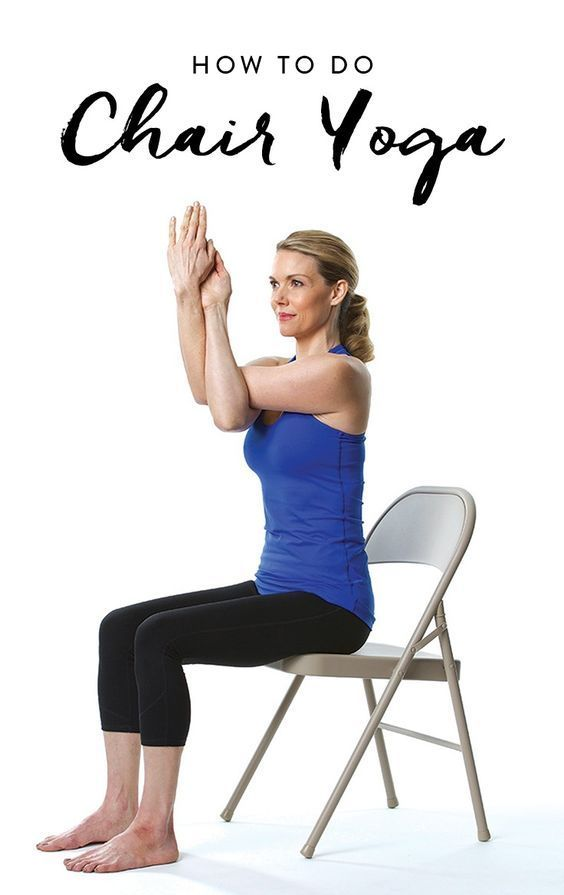 Here are 12 easy yoga moves to melt away your stress. The best part? You can do 'em right in your ch...