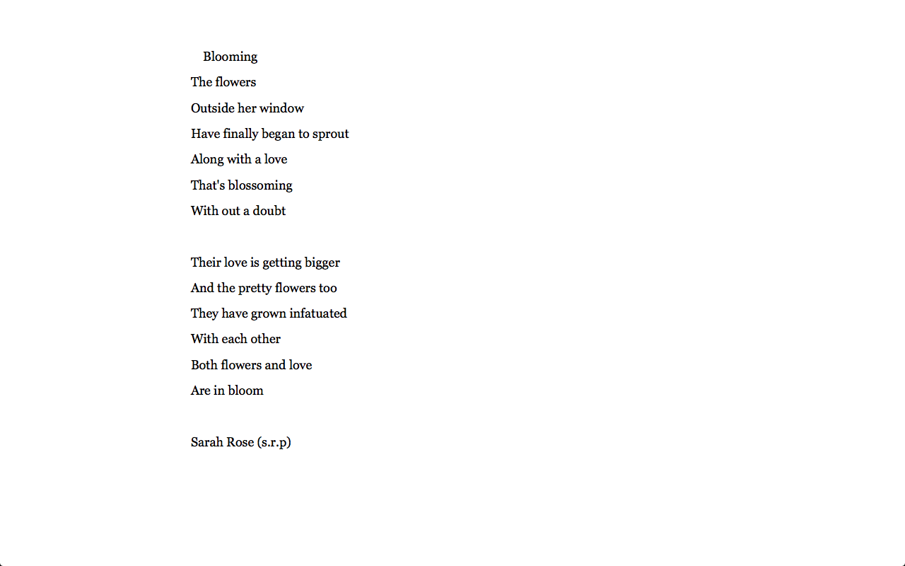 Blooming By Sarah Rose S R P Love Poem Quote Just An Fyi I Had