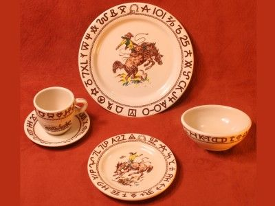 country dinnerware patterns | these US made Rodeo pattern china dishes from True West dinnerware . & Rodeo Pattern Dinnerware Sets | Rodeo Dinnerware and Kitchen pantries