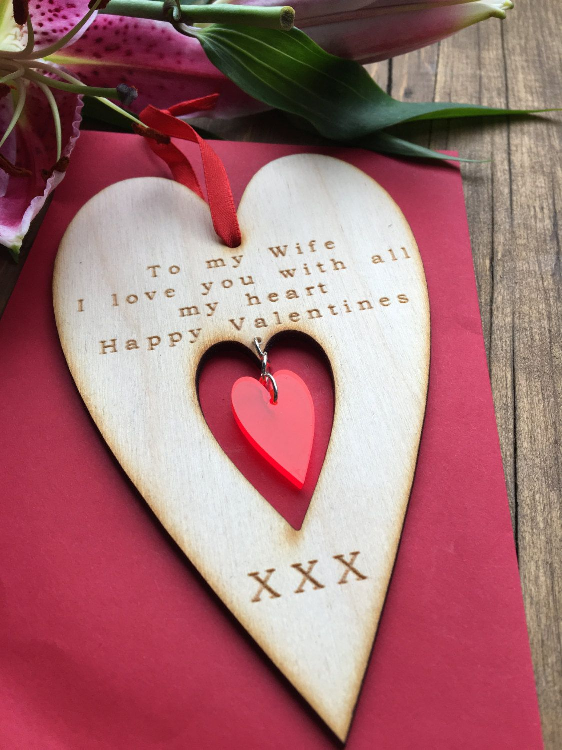 Valentine For Wife Wife Valentine Heart Valentines Card