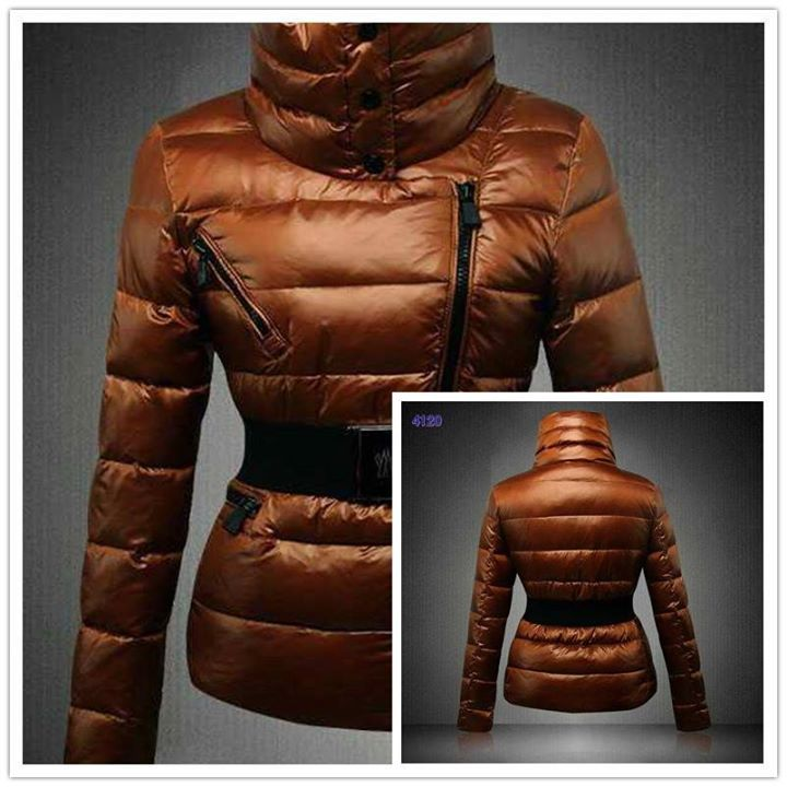 watch 22ee6 66a29 Moncler Angers Women Down Jackets Decorative Belt Coffee ...