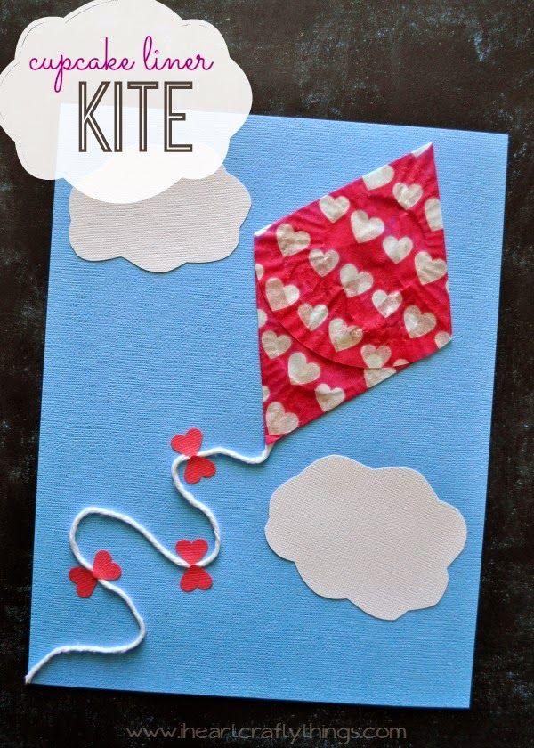 Νηπιαγωγείο Κάρτα χαρταετός Kites craft, Daycare crafts