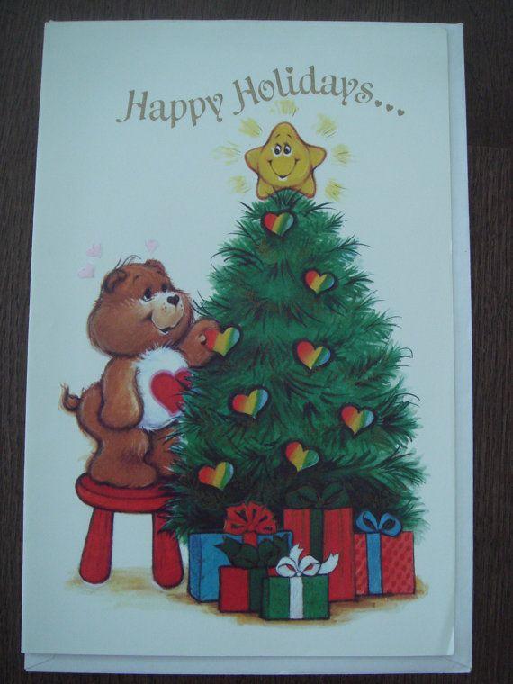 Vintage care bears bear christmas greeting card american greetings vintage care bears bear christmas greeting card american greetings unused 600 via etsy m4hsunfo