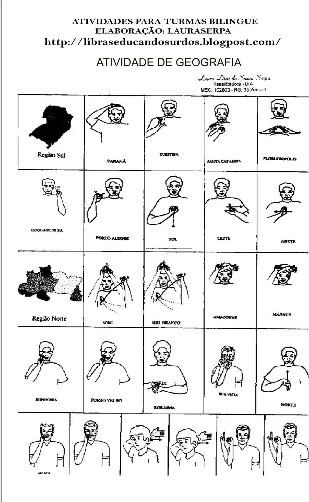 Favoritos LIBRAS: Educandos Surdos: Sinais dos Estados Brasileiros | LIBRAS  UJ09