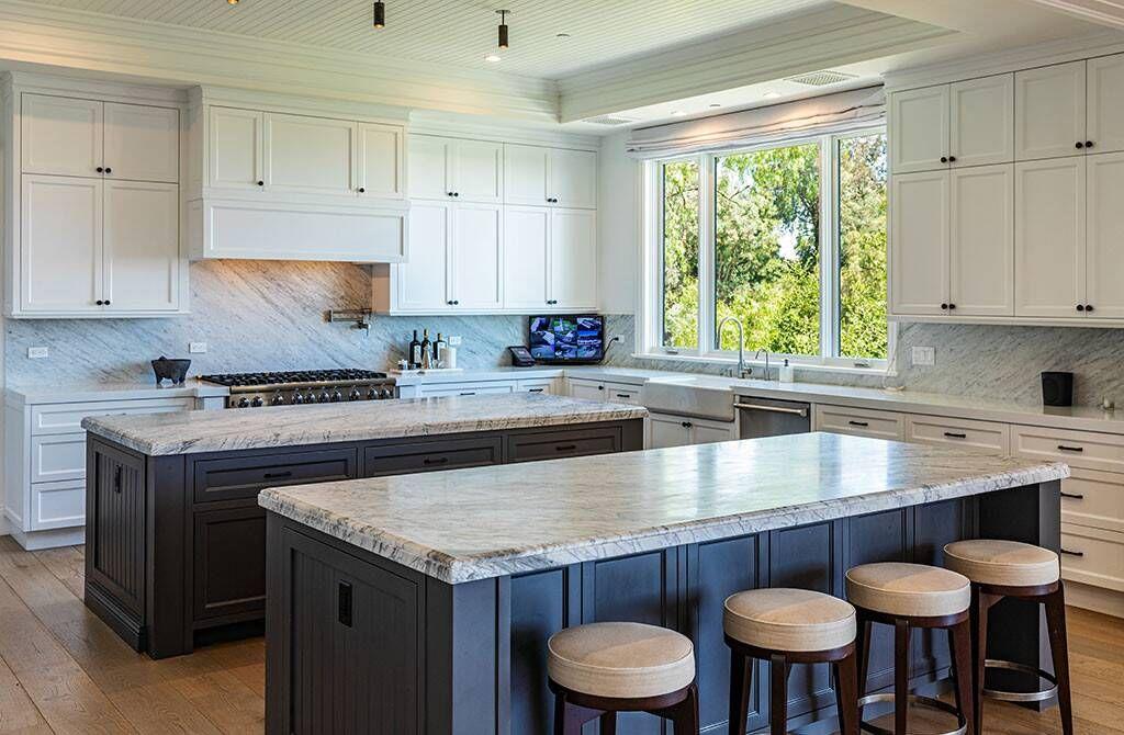 Kitchen From Scott Disick S Hidden Hills Home A Double Island