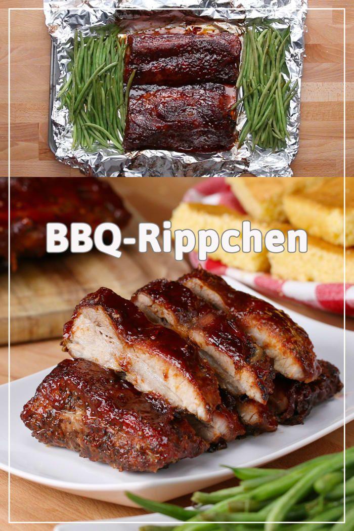 Mach diese leckeren BBQ-Rippchen auf einem Blech #beefsteakrecipe