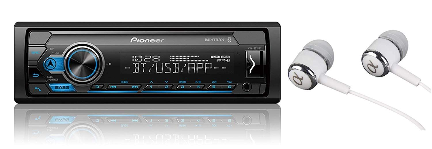 Pioneer Mvh S310bt Single Din Built In Bluetooth Mixtrax Usb Auxiliary Pandora Spotify Iphone Android And Smart Sync App Compatib Android Music Sync Usb