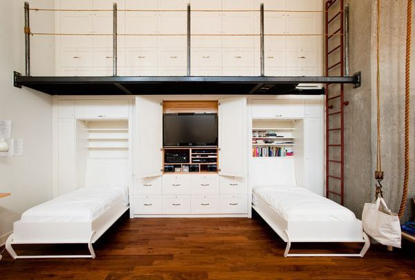 Wall Unit With Integrated Twin Murphy