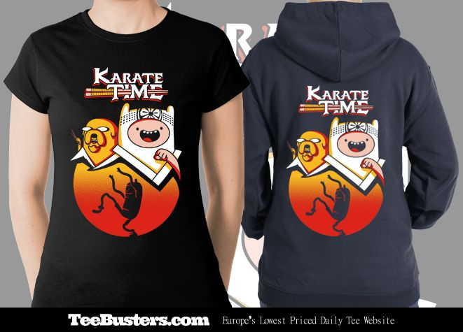 'Karate Time' limited edition tees & zoodies on sale on www.teebusters.com for only 48 hours! On sale February 11th to 13th! Worldwide Shipping