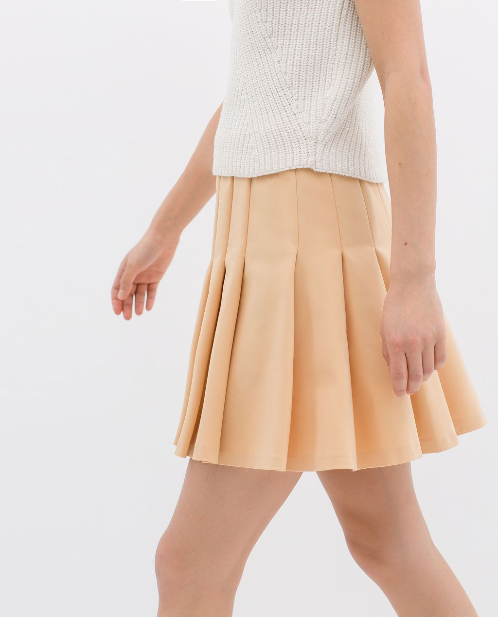 894196ede6 BOX PLEAT SKIRT WITH ELASTIC WAISTBAND from Zara   My Style Pinboard ...