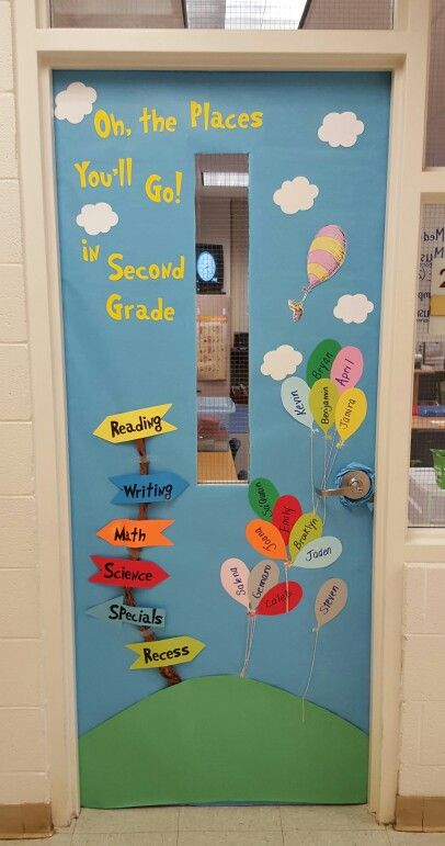 Classroom Window Ideas : Oh the places you ll go door decoration dr seuss