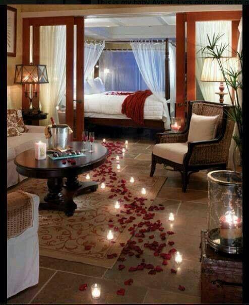 Romantic bedroom candles | Romantic room, Romantic bedroom ...