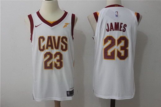 huge discount 0f4aa a97a3 Nike Men's Cavaliers 23 LeBron James White NBA Stitched ...