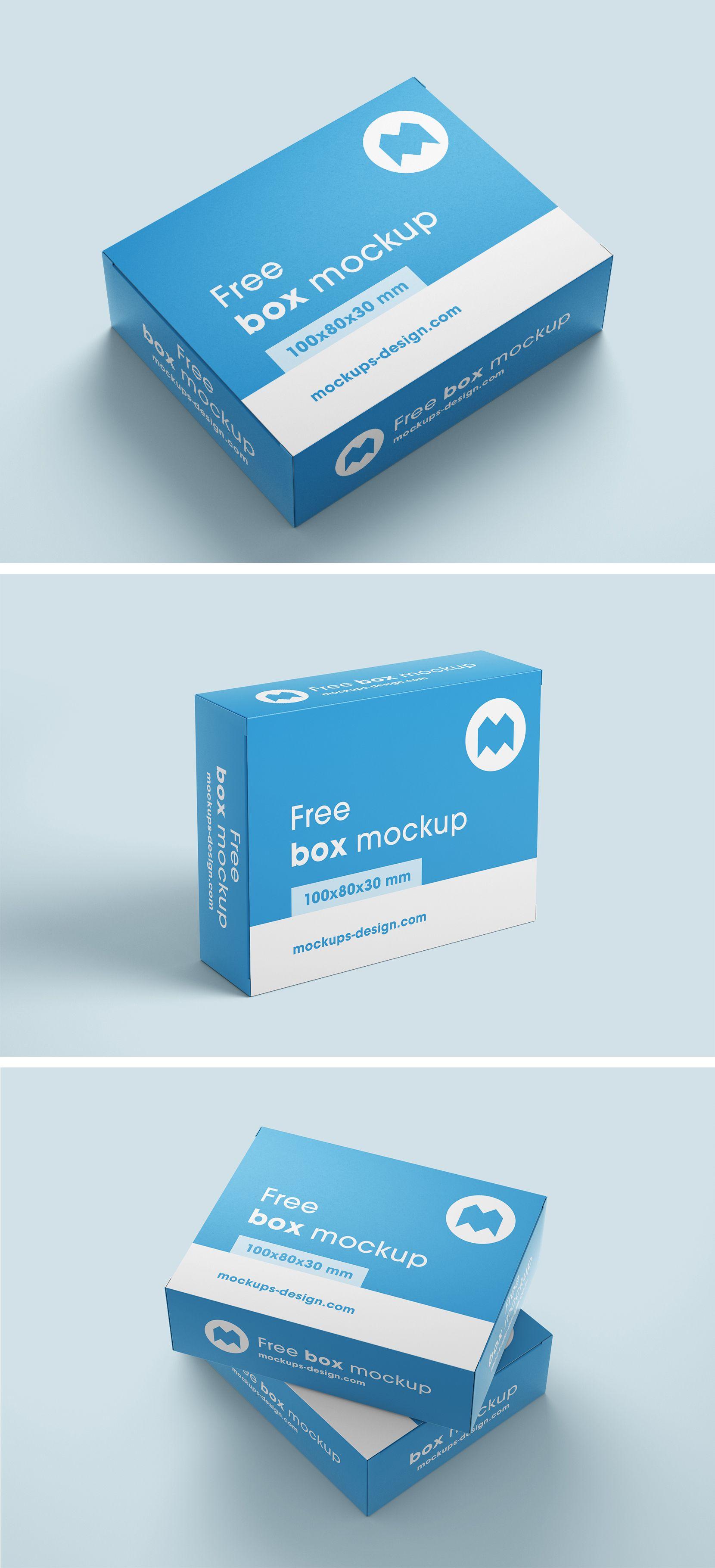 Download Free Box Mockup Box Mockup Free Boxes Free Mockup