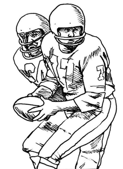 Two Football Player Coloring Page | Kids Coloring Pages ...