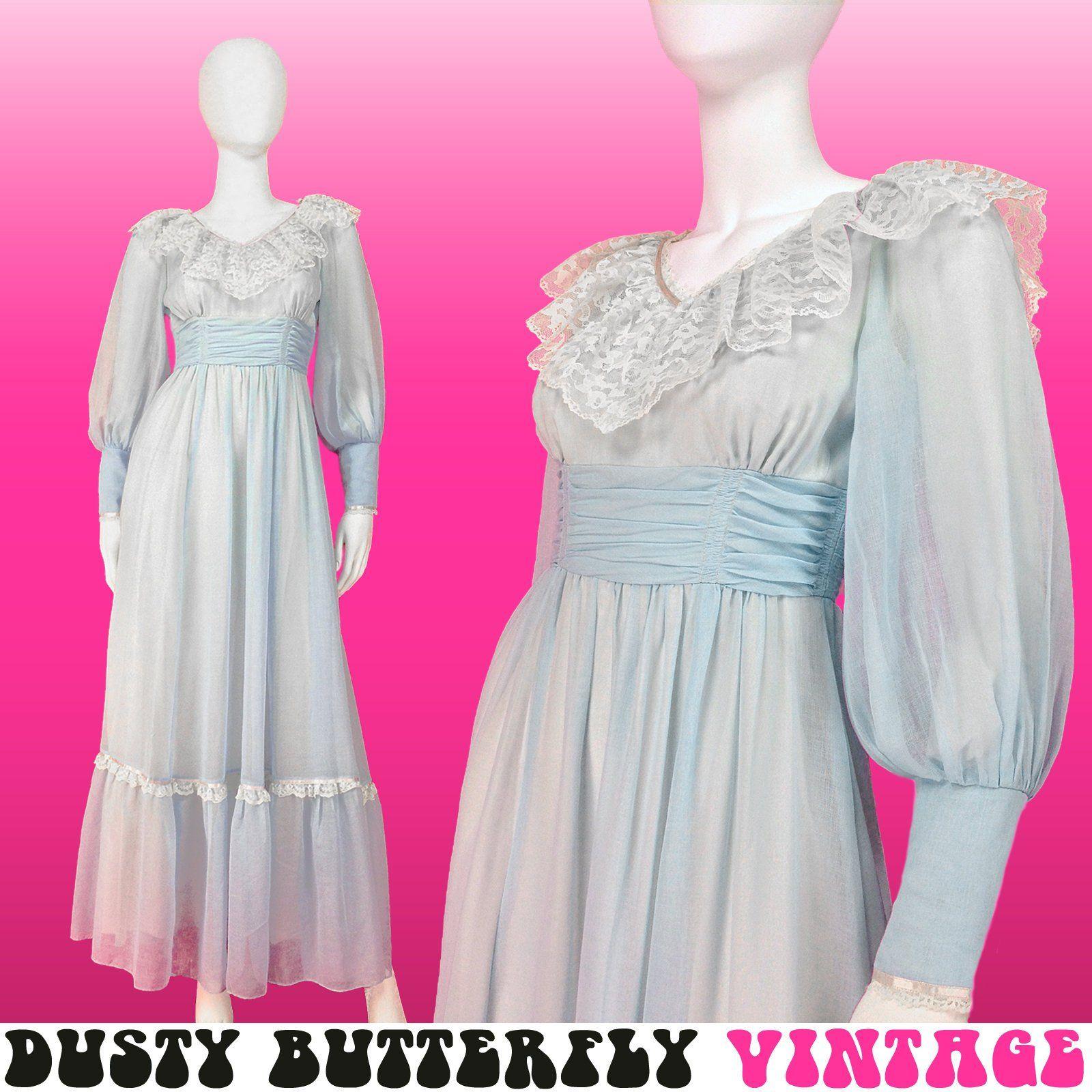 Xxs Xs Vintage Long Prom Dress 70s Maxi Pastel Aesthetic Etsy Prom Dresses Vintage Long Prom Dress Prom Dresses 70s